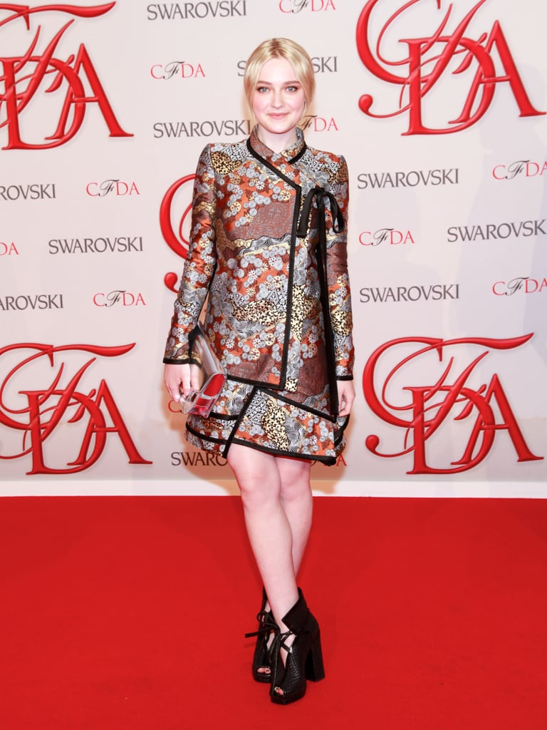 The original fashionable Fanning, Dakota chose Proenza Schouler for her CFDA turn last year.