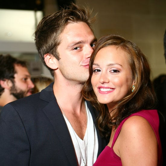 Photo of Sebastian Stan Kissing Leighton Meester at Gossip Girl Season Two Party at Henri Bendel
