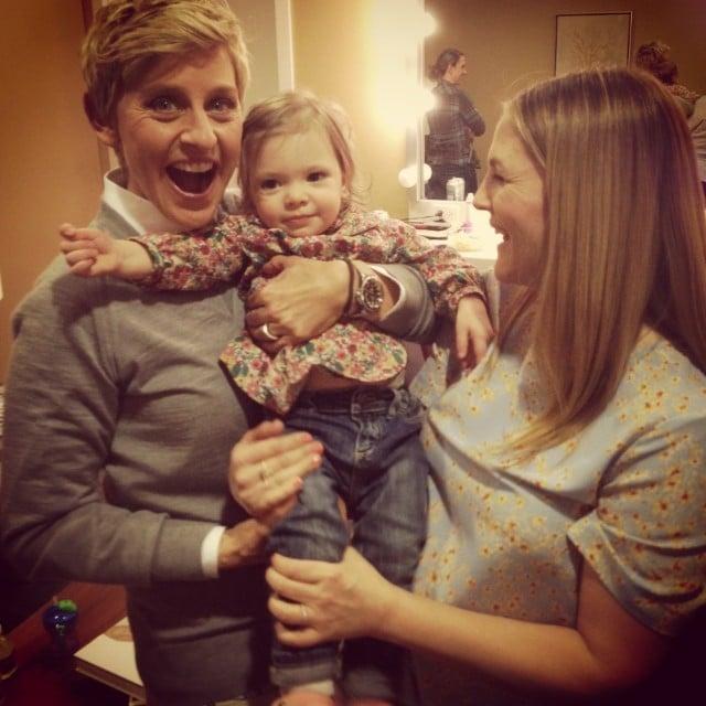 Drew Barrymore brought her daughter, Olive, along for an appearance on The Ellen DeGeneres Show. Source: Instagram user drewbarrymore
