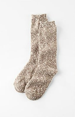 With a nonskid gripper feature, these J. Jill oatmeal-hued tweed socks ($13) are ideal for lounging around the house.