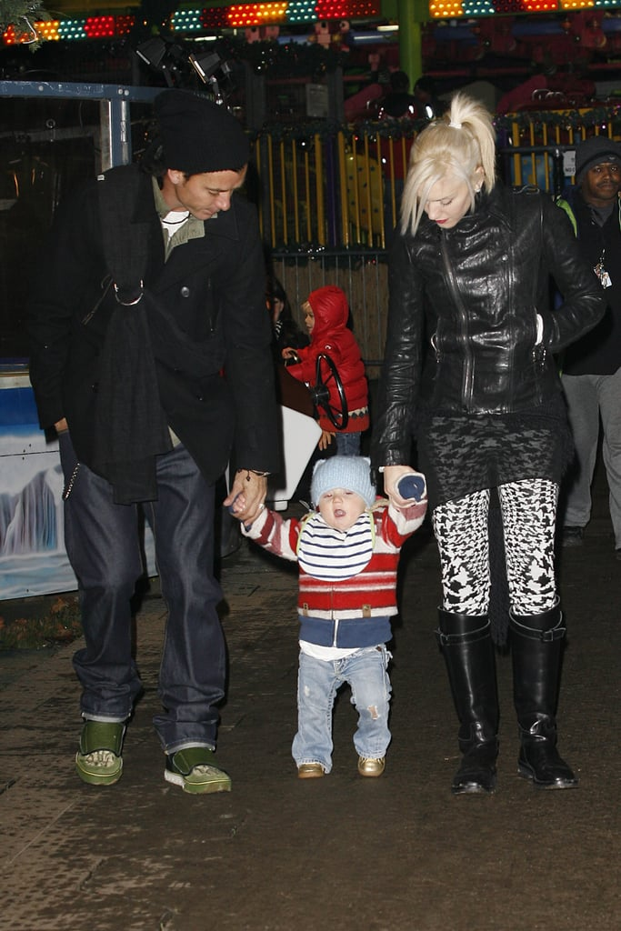 Gavin Rossdale and Gwen Stefani walked hand in hand with Zuma in London in December 2009.