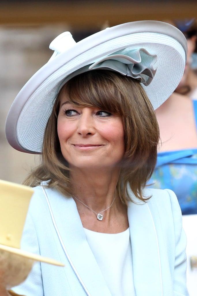 Carole Middleton looked ravishing in powder blue at the royal wedding.