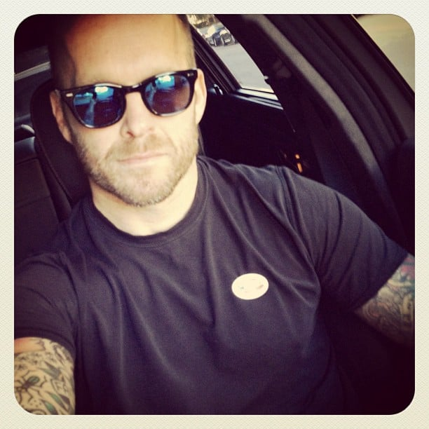 Bob Harper displayed his sticker on the way home from the polls. Source: Instagram user trainerbob