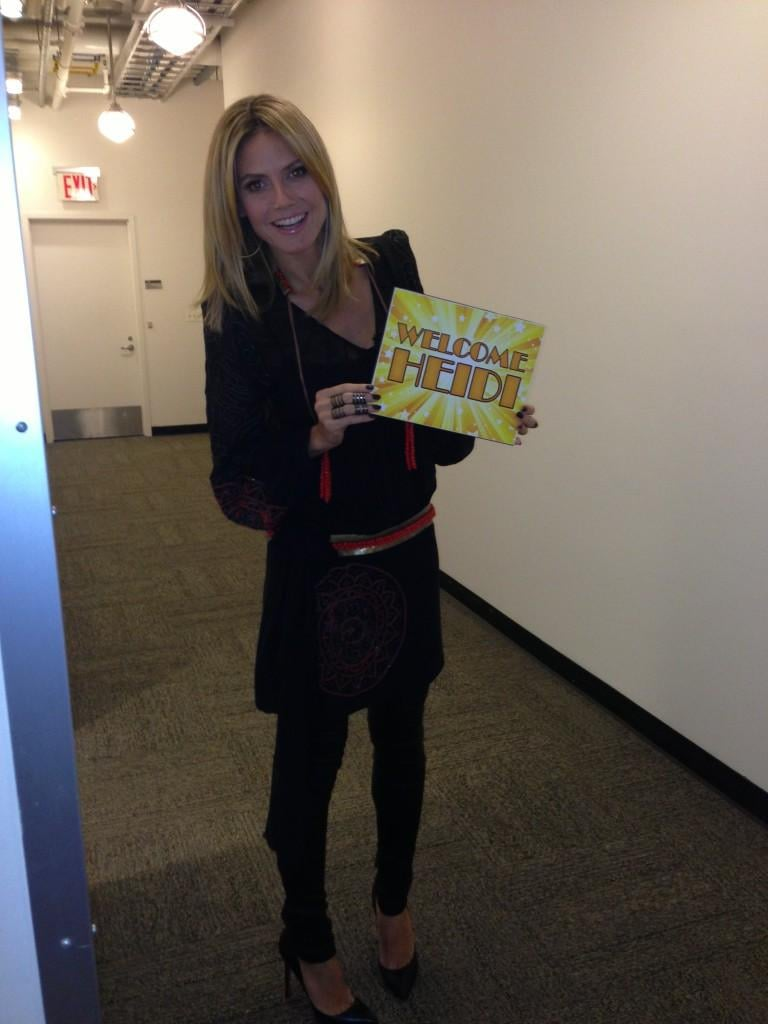 Heidi Klum filmed a segment on Good Morning America. Source: Twitter user heidiklum