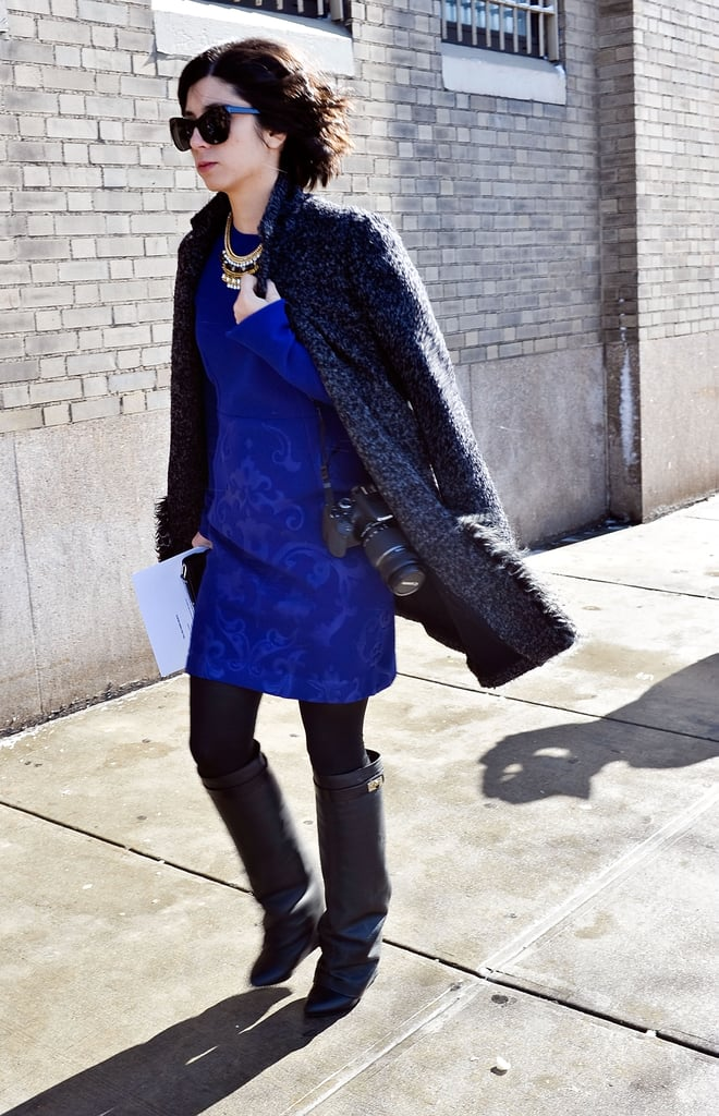 A little blue dress has way more impact than the average LBD.