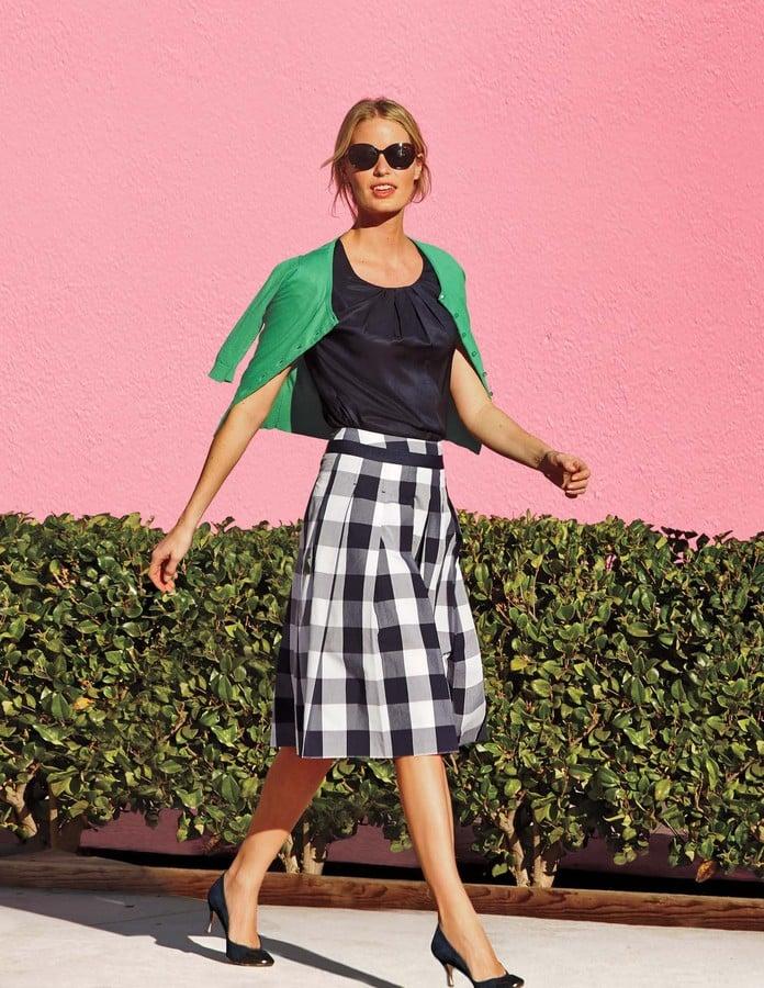 Boden gingham full skirt the one skirt that will flatter for Boden fashion deutschland