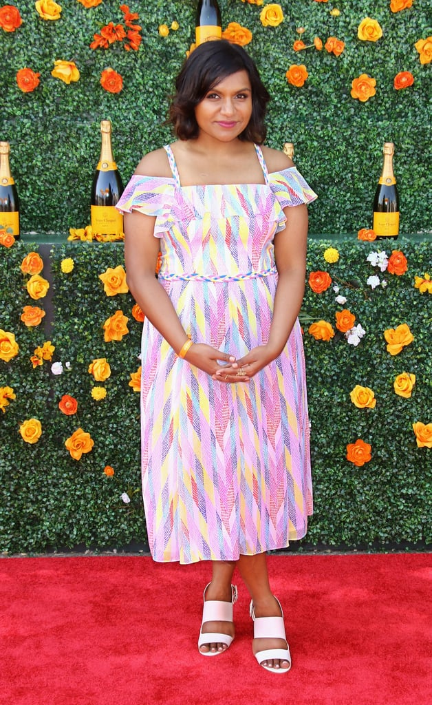 In a rainbow-hued Shoshanna dress for the Veuve Clicquot Polo Classic in 2015.