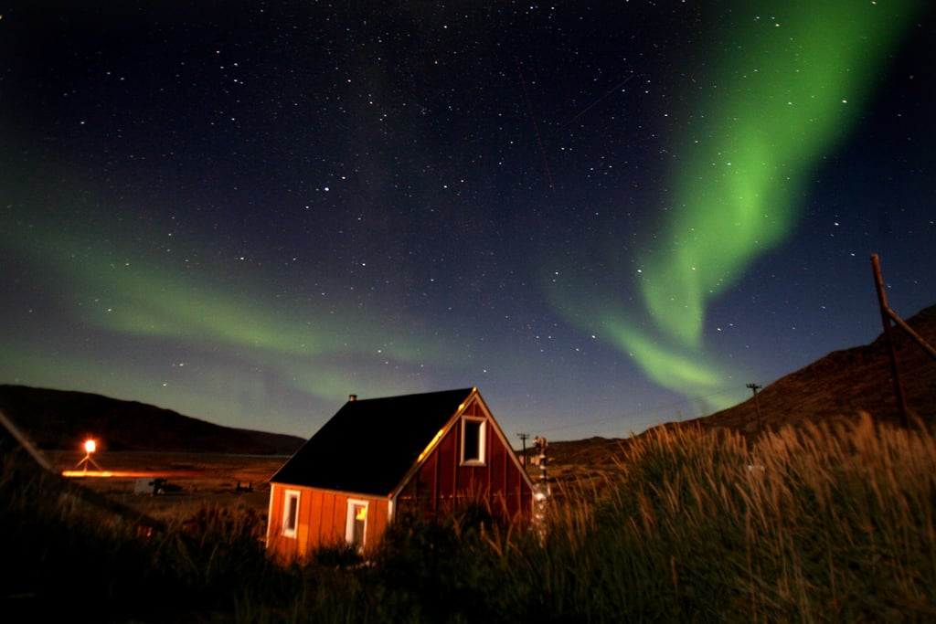 The northern lights could be seen in the sky over Kangerlussuaq, Greenland, in September 2007.