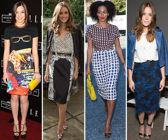 Printed Pencil Skirts   Celeb Pictures and Shopping