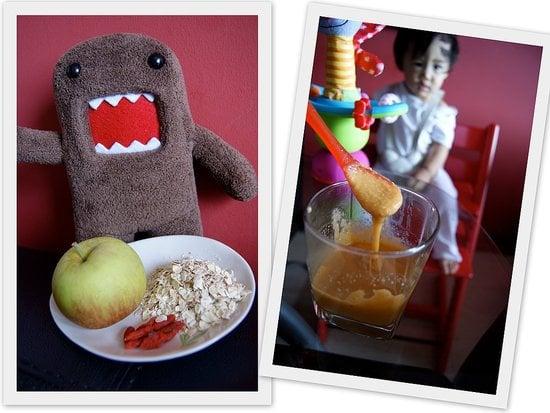 Apple Oatmeal With Goji Berries