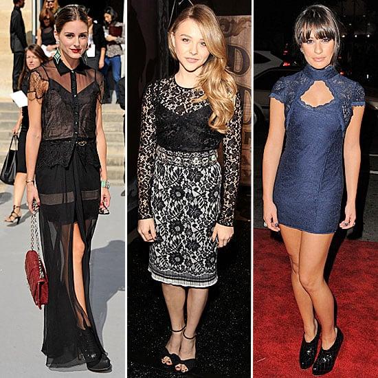 Celebrity Trend: Dark Lace