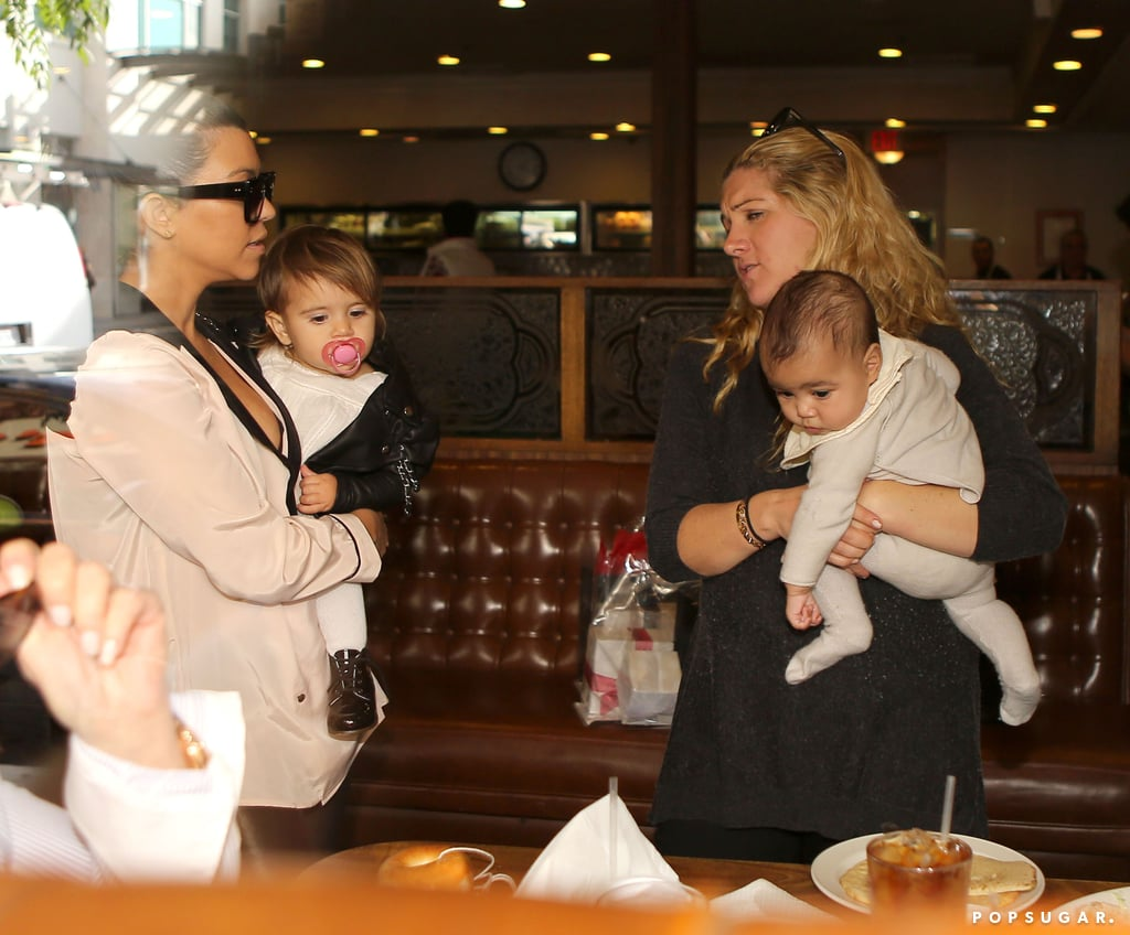 Kim and Kourtney Kardashian With North and Penelope ...