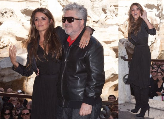 Photos of Penelope Cruz And Pedro Almodovar Promoting Broken Embraces in Rome