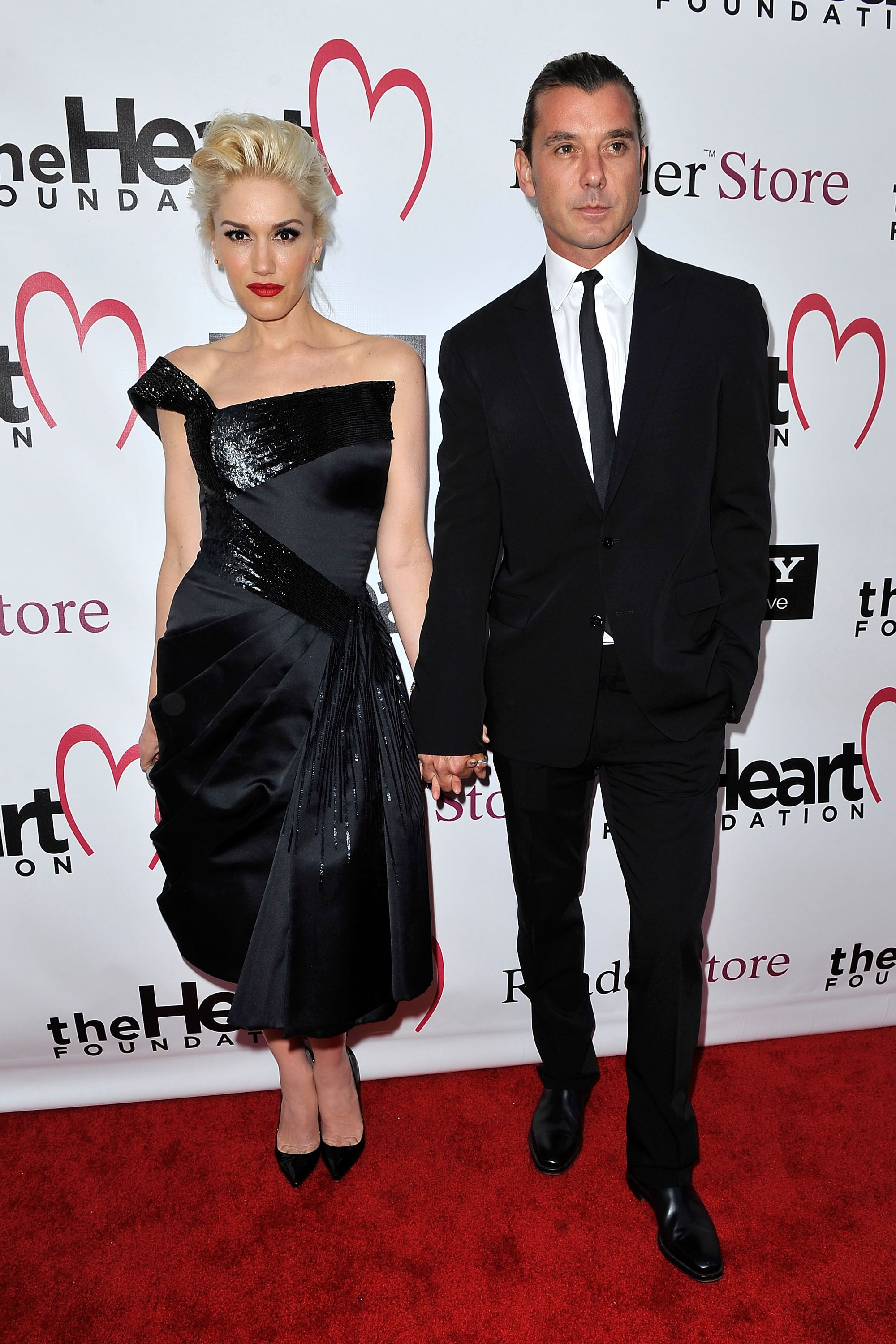 Gavin Rossdale and Gwen Stefani stopped for a photo.