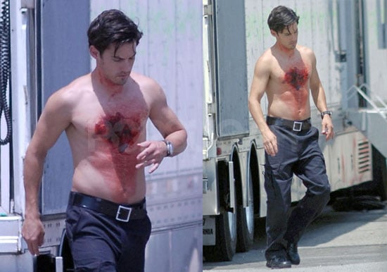 Photos of Milo Ventimiglia Shirtless on the Set of Heroes in LA
