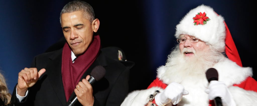 President Obama Busts a Move With Santa Claus at the National Tree Lighting
