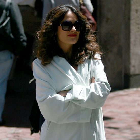 Pictures of Salma Hayek Filming Here Comes the Boom