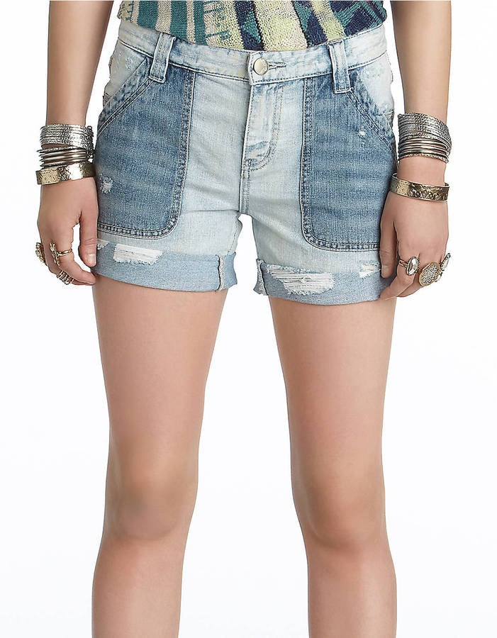 The contrasting washes on these Free People carpenter denim boyfriend shorts ($47, originally $78) make them totally interesting to look at. We would love to see them with a denim tank for a cool denim-on-denim pairing.