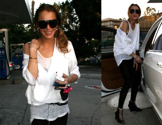 Photos of Lindsay Lohan, Who's Taking a Break From Samantha Ronson, Out in LA