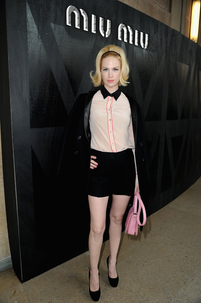 January Jones at Miu Miu.