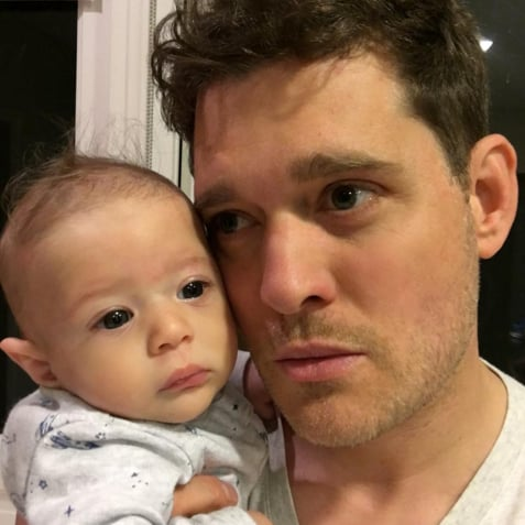 Michael Buble Photo With Son Elias April 2016