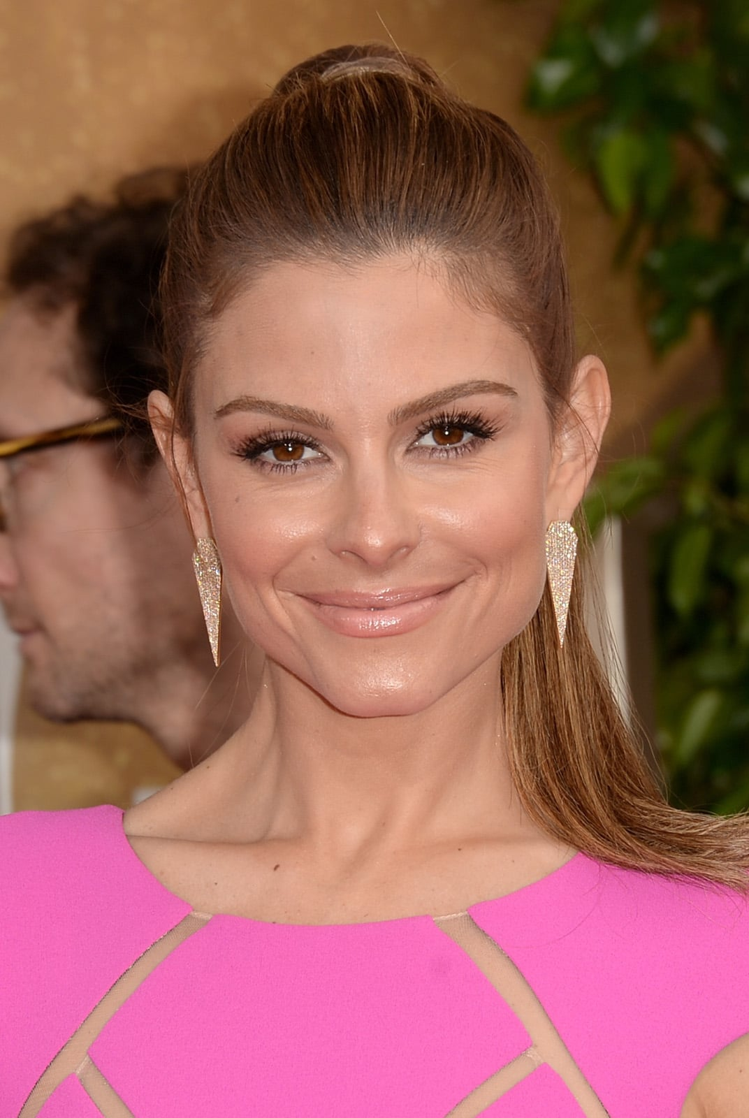 Take your second-day hair to new heights, literally, with a polished ponytail, courtesy of Maria Menounos.