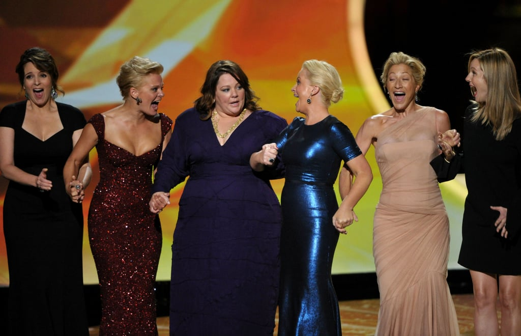 The hilarious duo joined fellow female comedians on stage during the 2011 Emmy Awards.