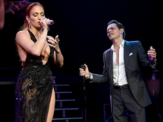 Friendly Exes! Jennifer Lopez Surprises Marc Anthony at His Concert in N.Y.C.