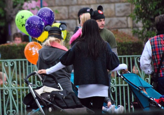 Pictures of Christina Aguilera With Matthew Rutler and Max Bratman at Disneyland