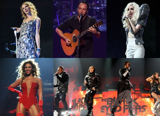 Photos of Grammy Awards 2010 Performers Including Beyonce Knowles, Taylor Swift, Lady GaGa, Black Eyed Peas, Dave Matthews Band
