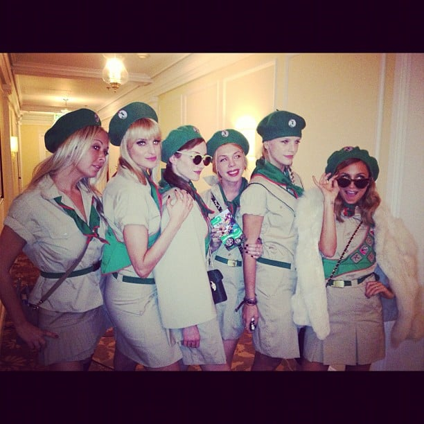 Nicole Richie and her pals dressed up as the characters from Troop Beverly Hills.  Source: Instagram user sofifiicom