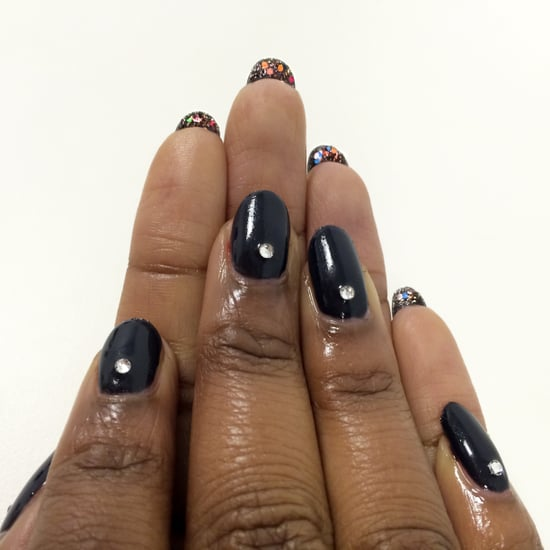 Try This Reverse Nail Art For a Glittery New Year's Eve Manicure