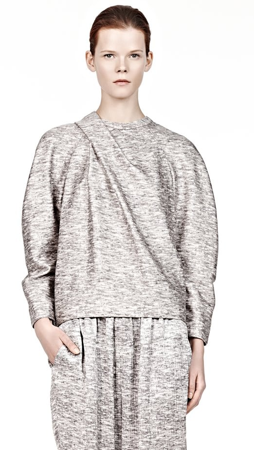 The luxe sweatshirt is a trend we're glad to welcome back. As comfy and roomy as the original, Alexander Wang's souped-up fashion version ($695) is ready to be paired with a sleek pencil skirt and pumps.