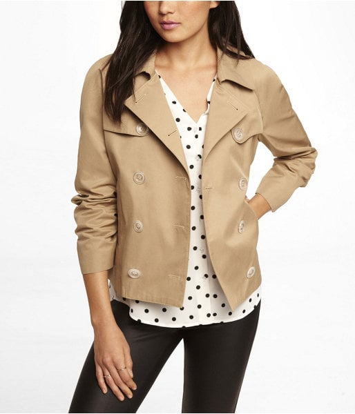 Express Cropped Trench Coat