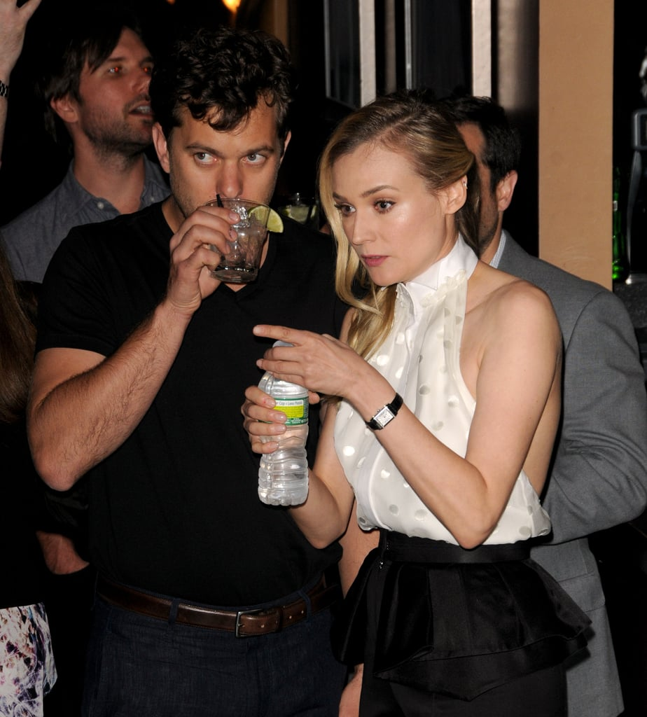 Diane Kruger and Joshua Jackson chatted during the party.