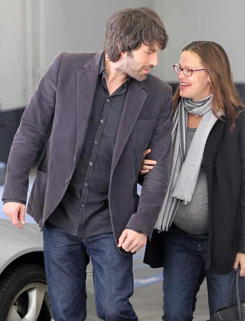 Ben Affleck leaned in close to a pregnant Jennifer Garner as they ran errands in January.