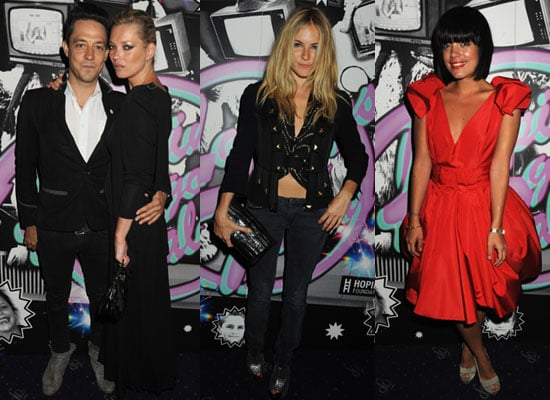 Photos of Kate Moss, Sienna Miller, Lily Allen at Hoping's Got Talent Karaoke