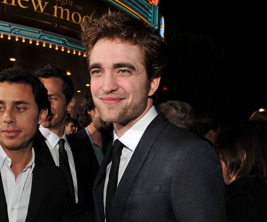 Slide Photo of Robert Pattinson at LA New Moon Premiere