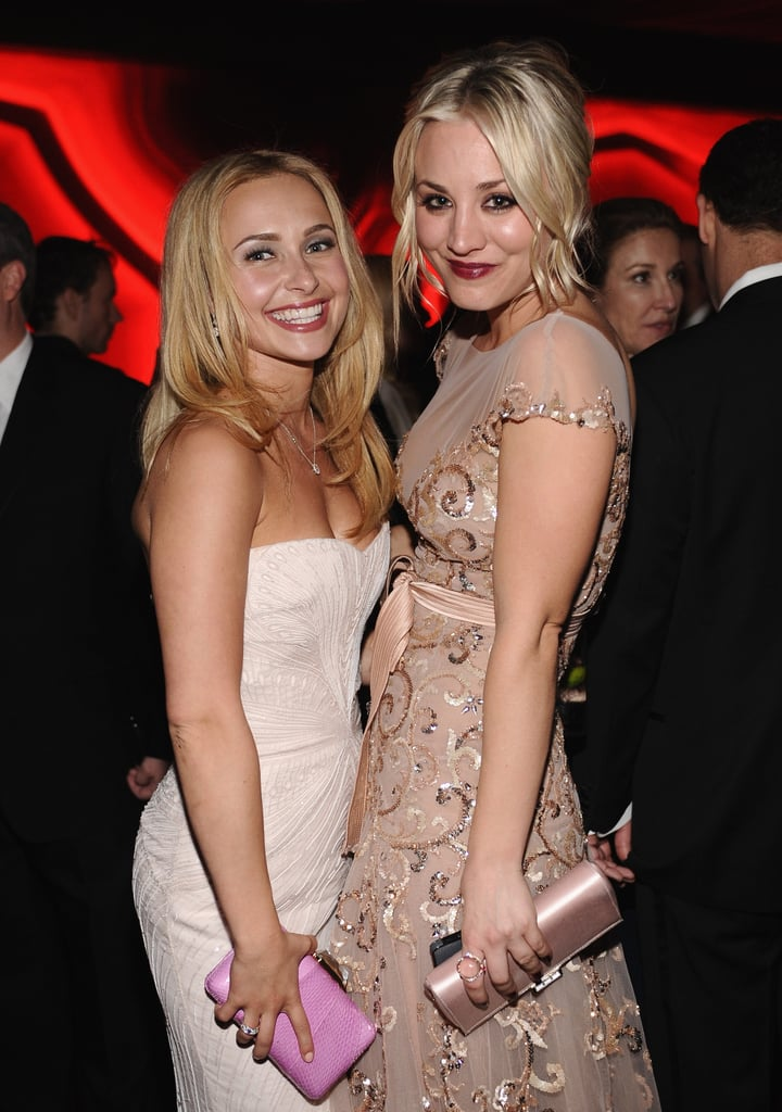 Hayden Panettiere and Kaley Cuoco teamed up at InStyle's Golden Globes afterparty.