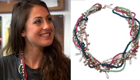 Roxy Olin Wears Soho Hearts Rope and Pearl Necklace