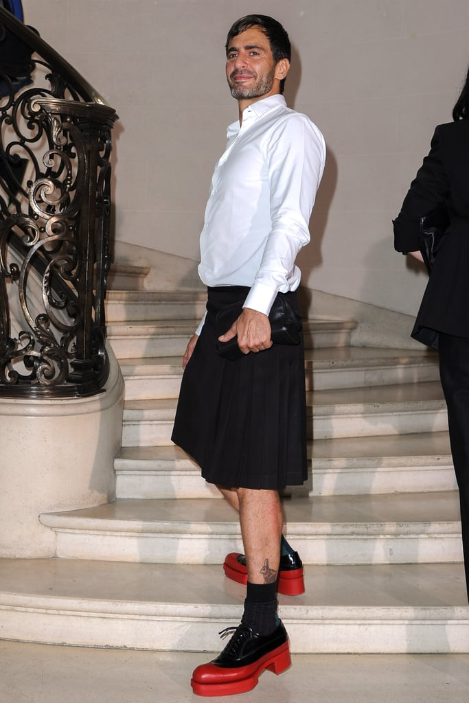 Marc Jacobs revealed some serious red platforms at Christian Dior.