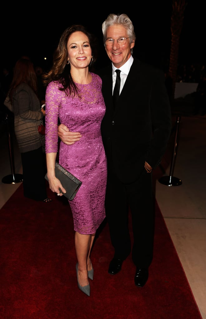 Diane Lane posed with her former costar Richard Gere.