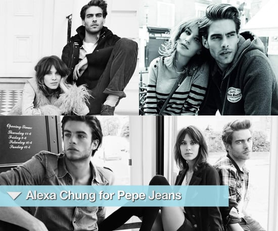 Photos of Alexa Chung for Pepe Jeans Autumn Winter 2010