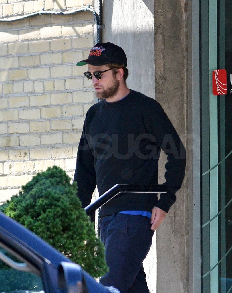Robert Pattinson was spotted leaving a sound studio in Toronto.