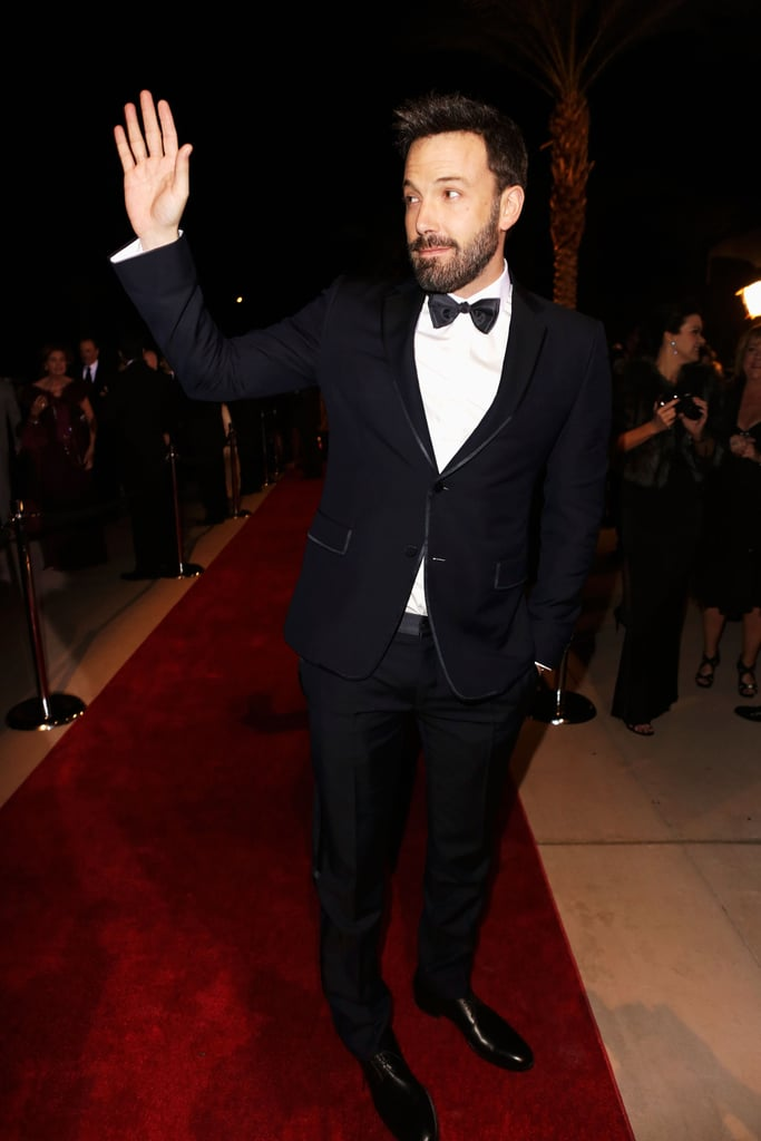 Ben Affleck gave a wave.