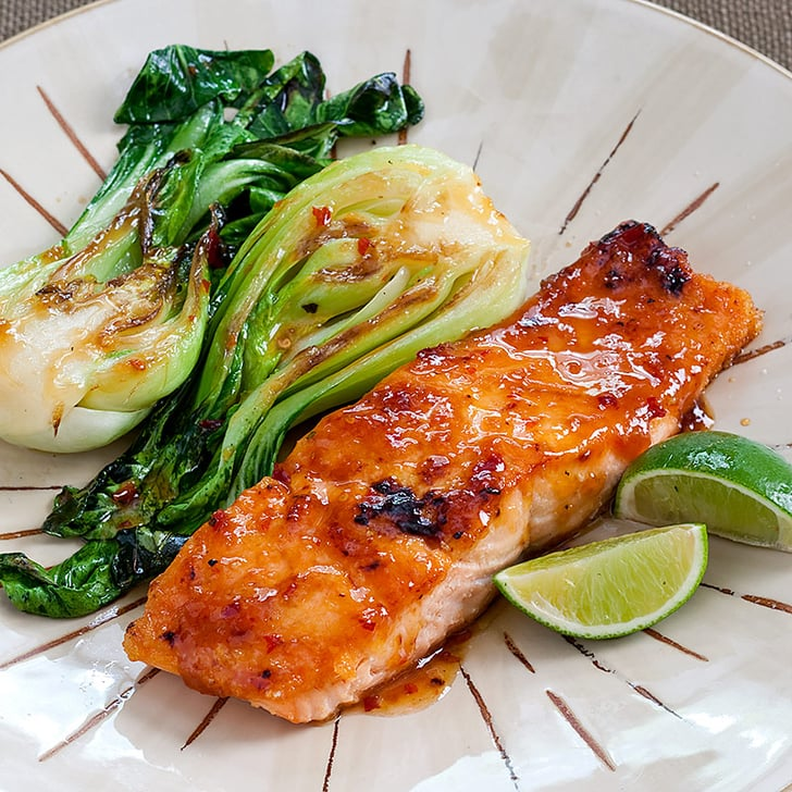 Chili-Glazed Salmon With Bok Choy | POPSUGAR Food
