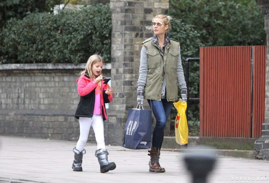 Gwyneth Paltrow and Apple Martin went shopping together in London.