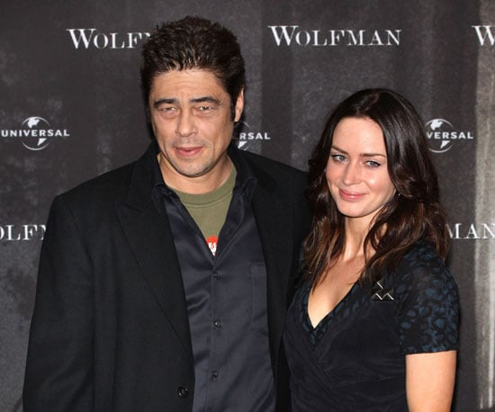 Slide Photo of Benicio Del Toro and Emily Blunt at the Berlin Premiere of Wolfman