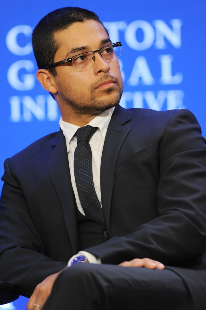 Wilmer Valderrama also attended the Clinton Global Initiative in New York.