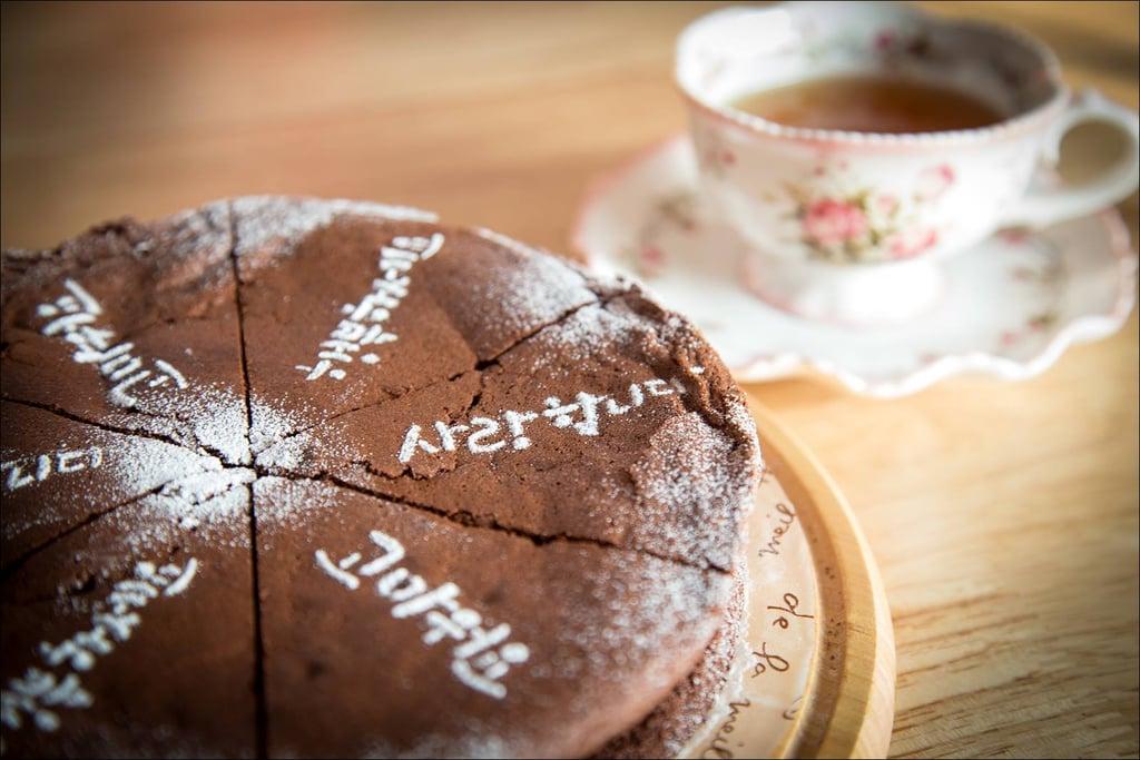 . . . And Homemade Chocolate Cake With Tea!